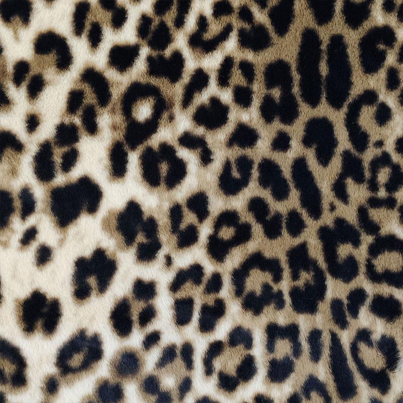 Tessuto Pelliccia Leopardata