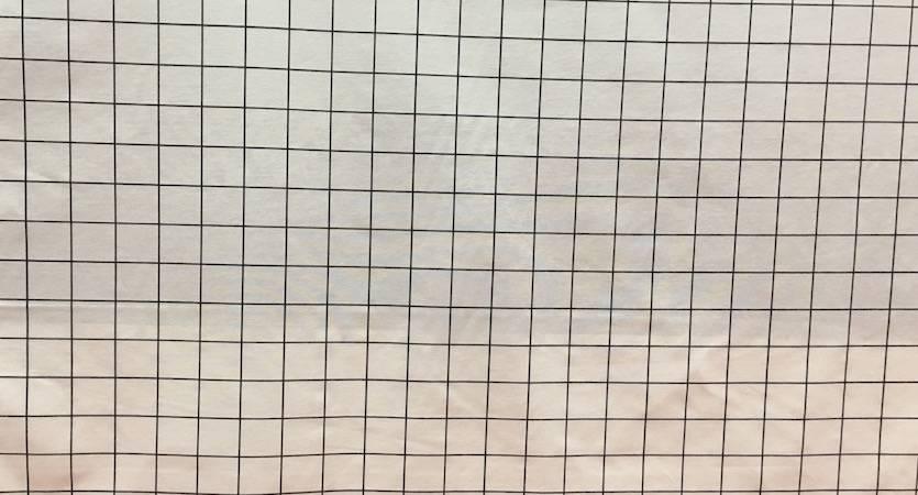 Tessuto Misto Cotone Griglia Bianco e Nero
