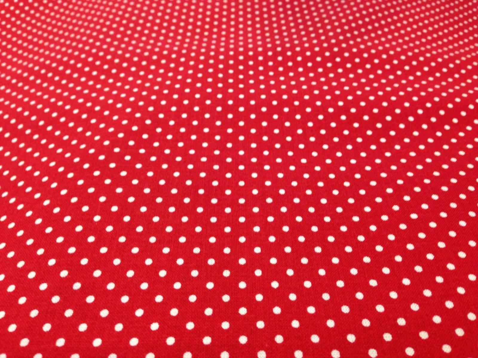 Tessuto Cotone Rosso a Pois