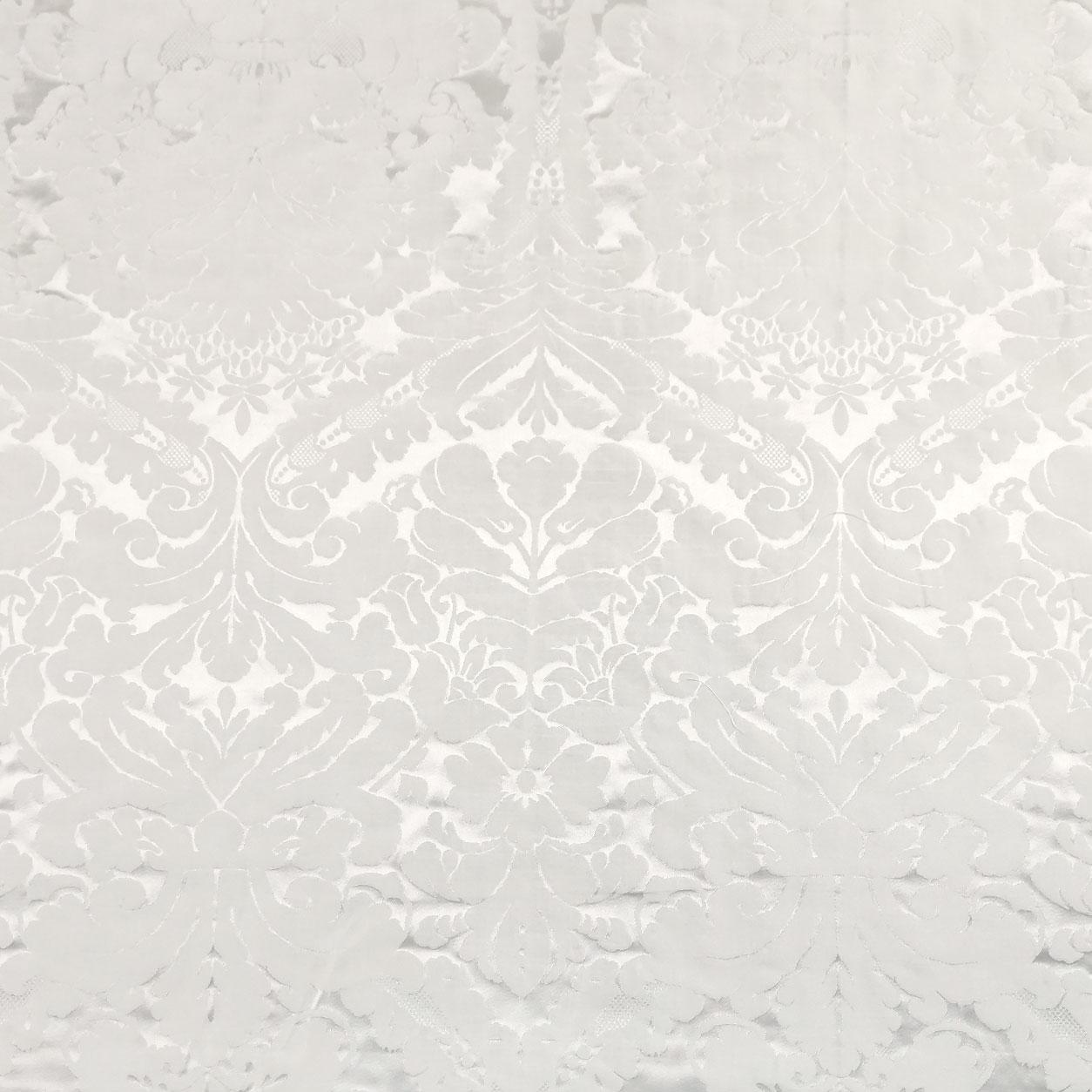 Tessuto Damascato Bianco Ottico