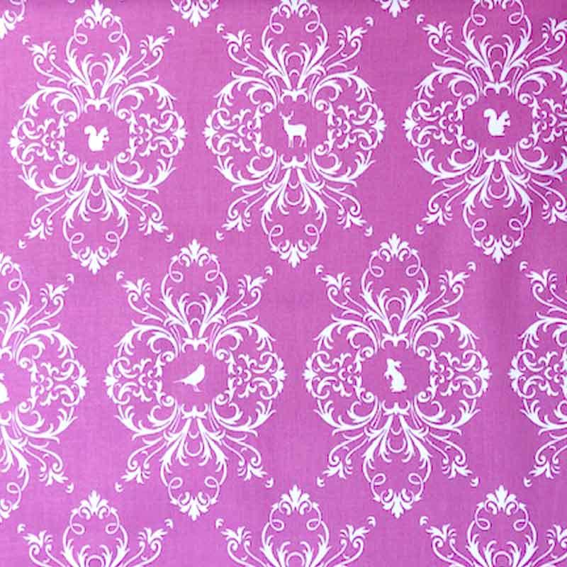 Tessuto Gutermann Fantasy Animals Pink