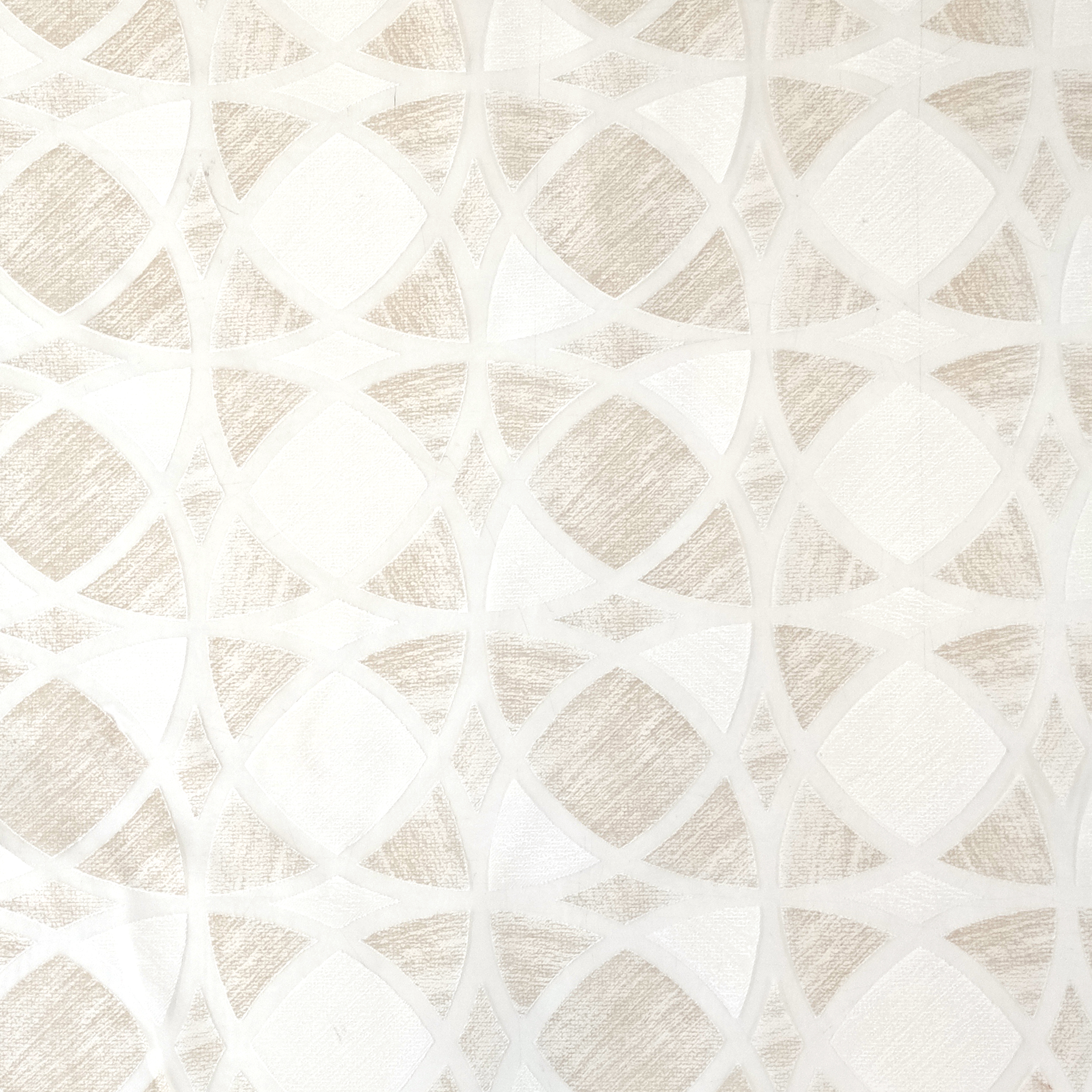 Tessuto Tendino Devorè Geometrico Beige