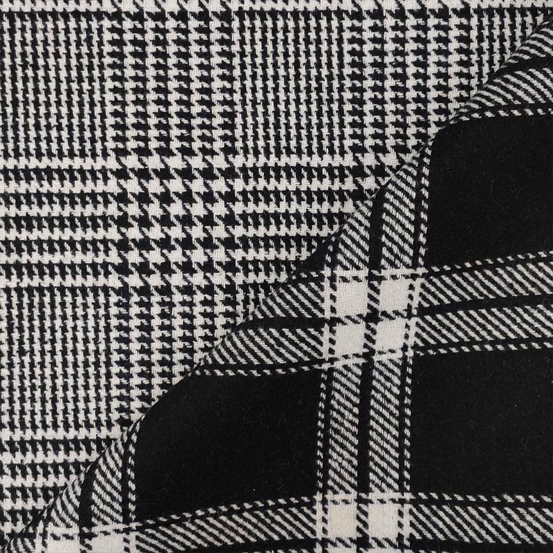 Tessuto per Cappotto Double Principe di Galles e Tartan