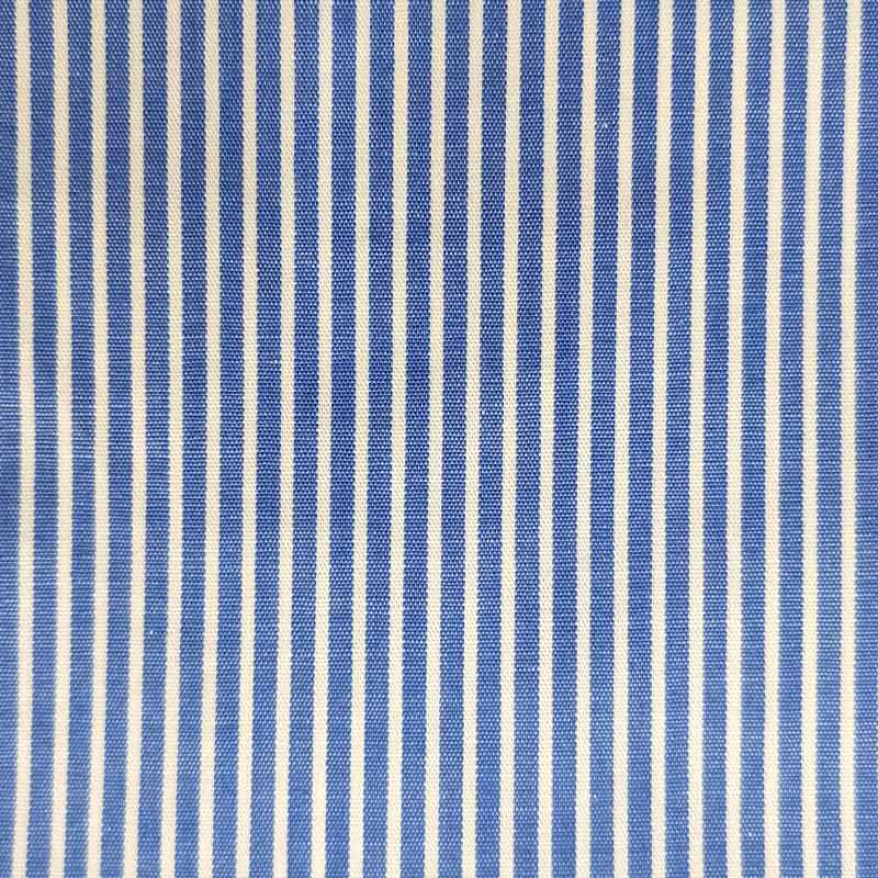 Tessuto per Camiceria Righe Bluette