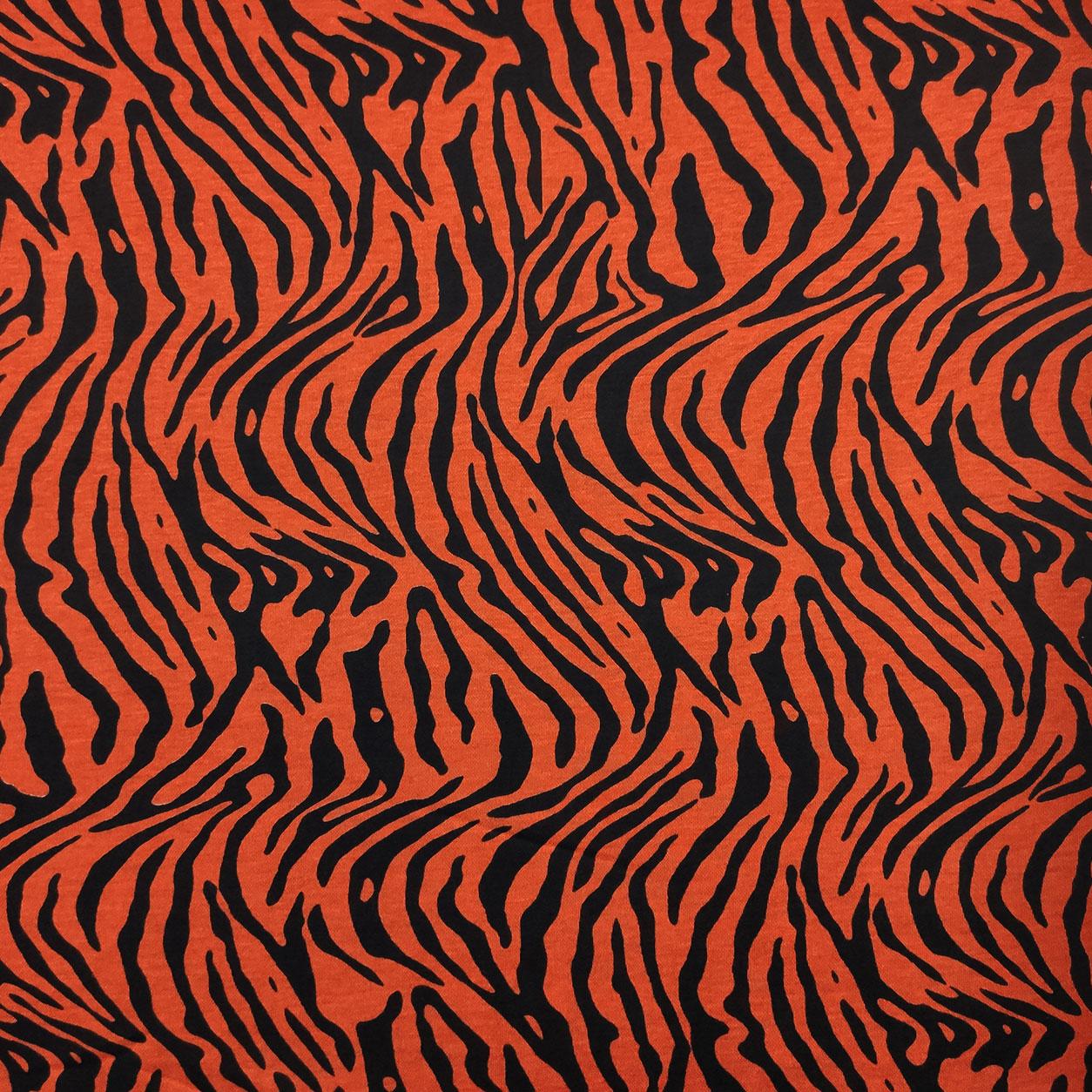 Tessuto Maglina Zebrata Arancione