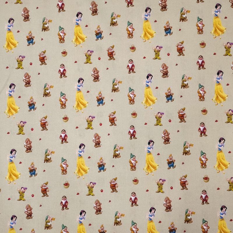 Tessuto Cotone Disney Biancaneve e i 7 Nani