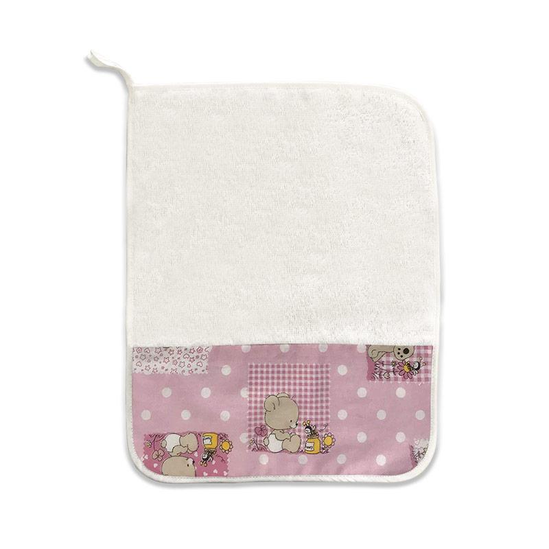 Asciugamano Orsetti e Api Rosa