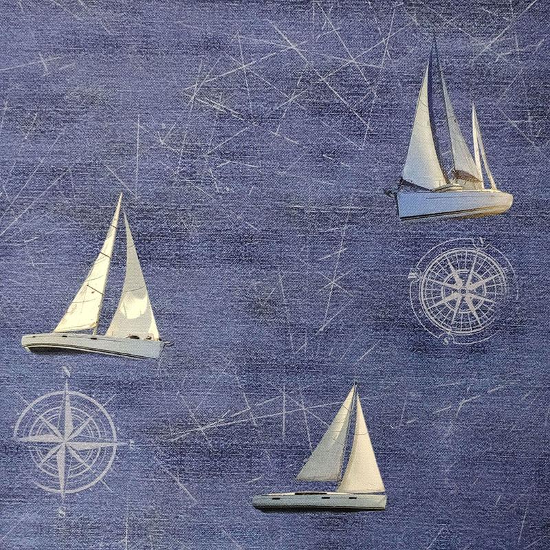 Tessuto-Panama-Barche-a-Vela-Sfondo-Blu