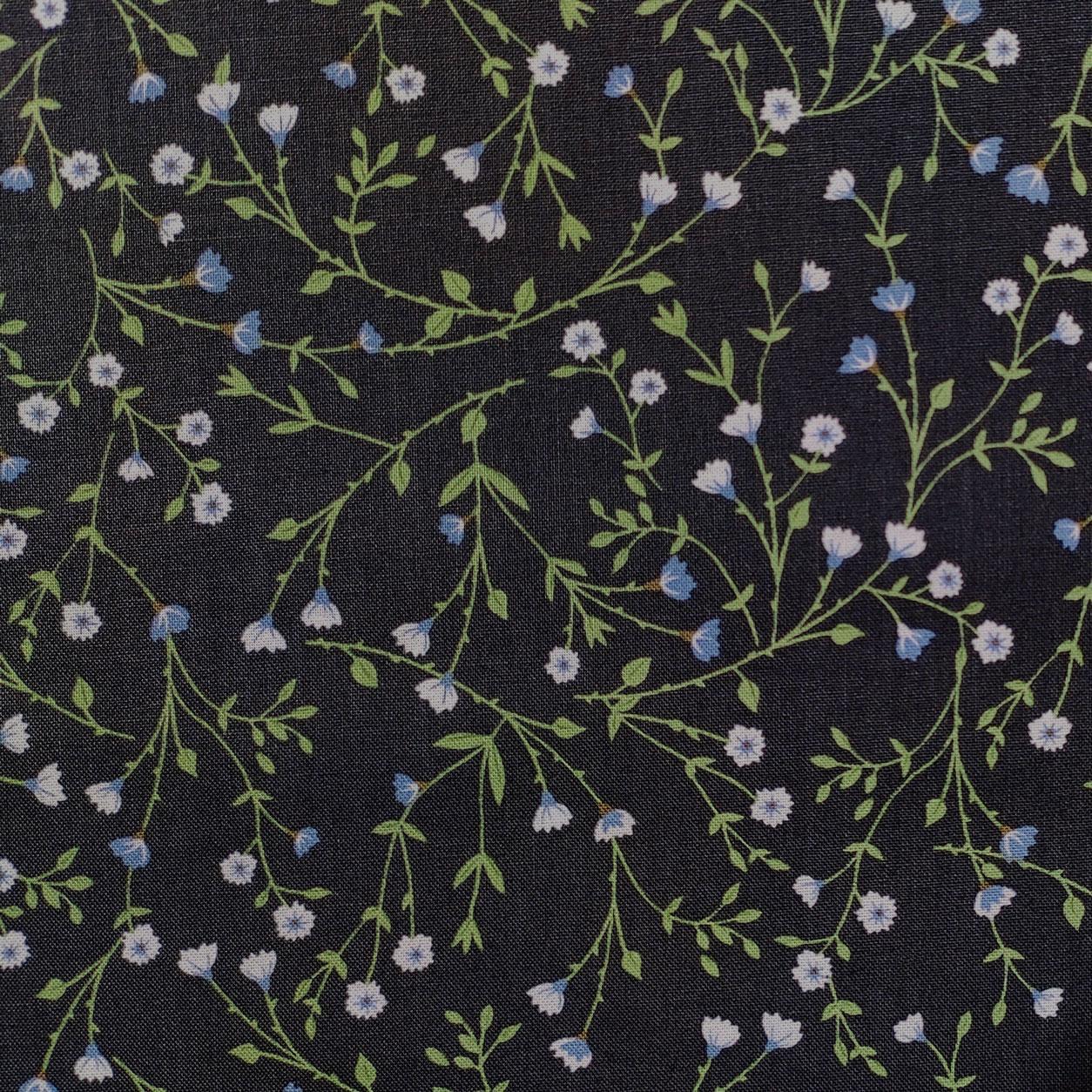 Tessuto Guttermann Fiorellini Azzurri