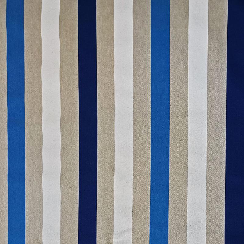 Tessuto Panama Righe Toni Blu