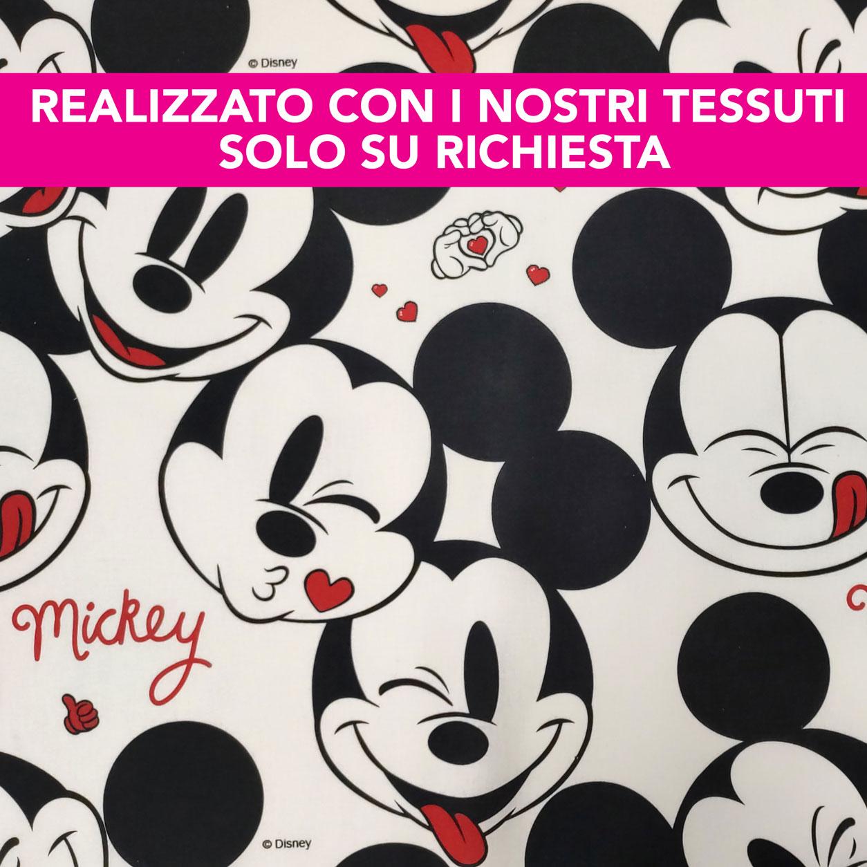 Federa Personalizzata Faccine Mickey Mouse Bianco