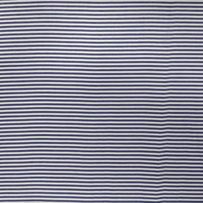 Tessuto Viscosa Righe Azzurre e Bianche