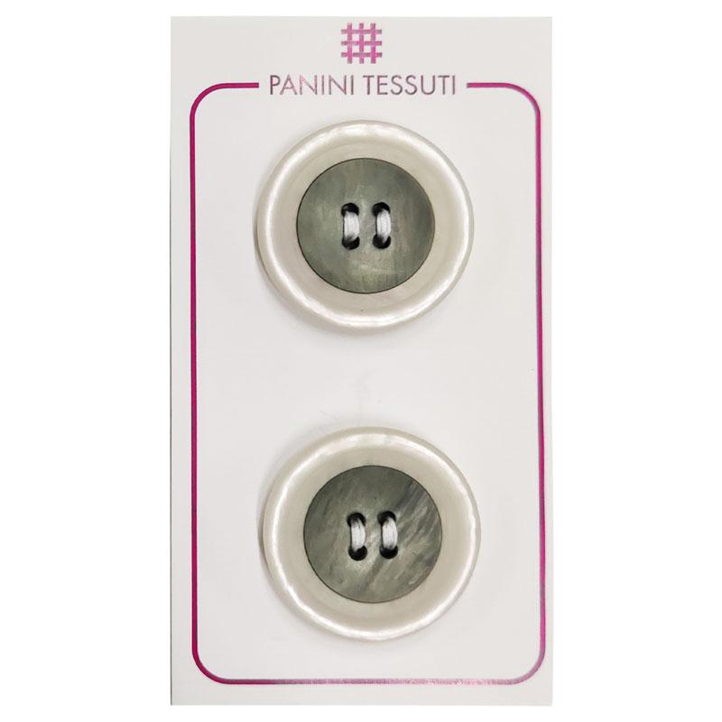Bottoni Effetto Marmo Colore Trasparente 2 Pezzi - Lin 44
