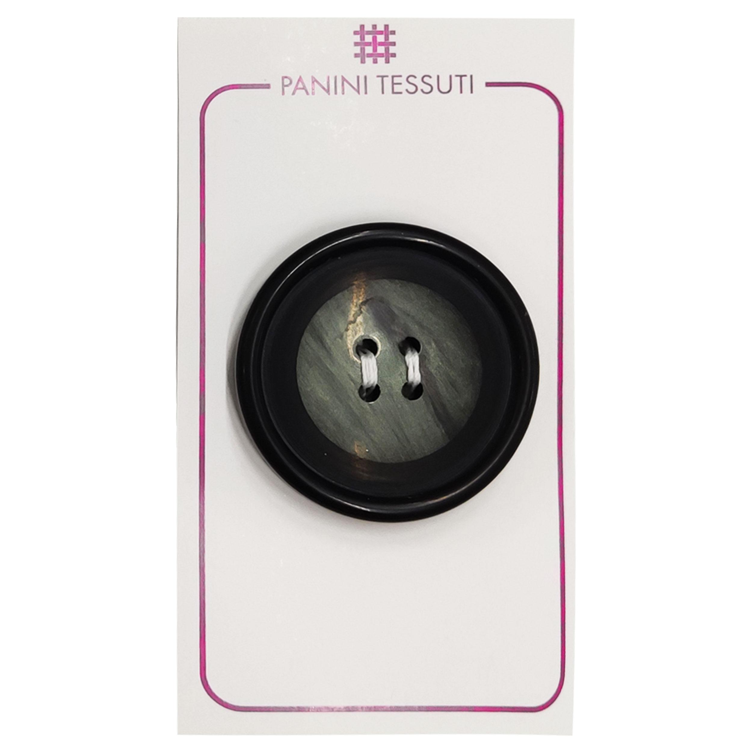 Bottone Effetto Marmo Colore Nero 1 Pezzo - Lin 60