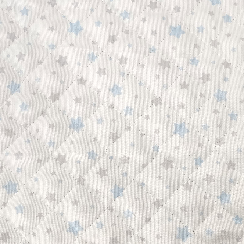 Tessuto Trapuntato Piquet Stelle Azzurre