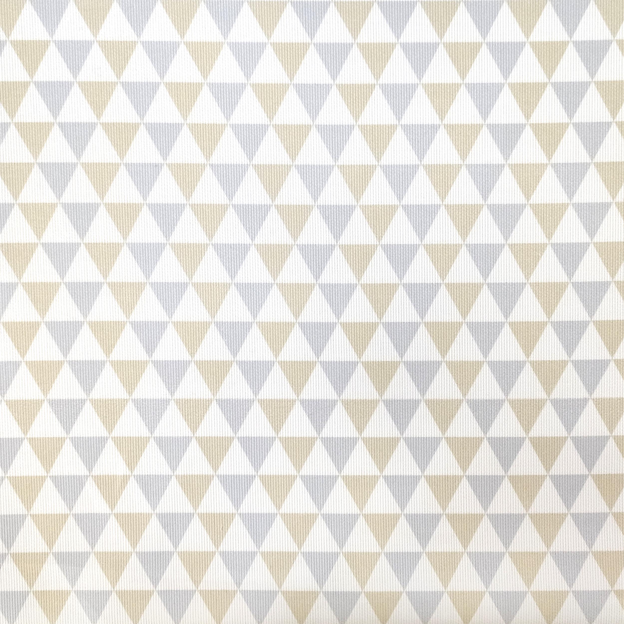 Tessuto Piquet di Cotone Fantasia Triangoli