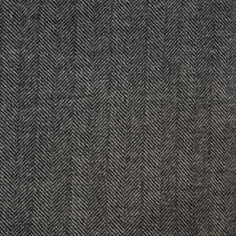 Tessuto per Cappotti Spigato Grigio Scuro