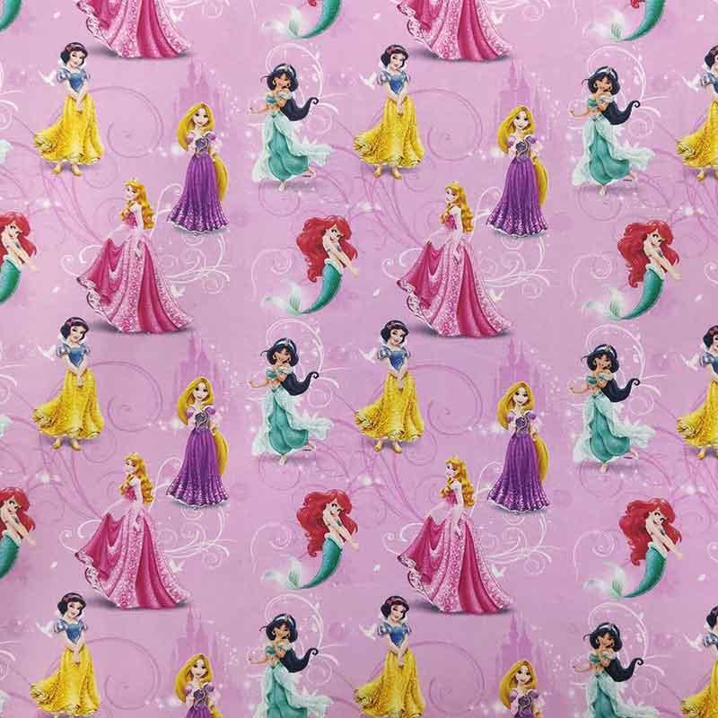 Tessuto Cotone Disney Principesse Mini