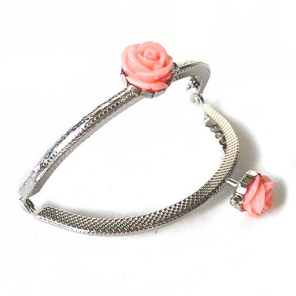 Click Clack Argento 8.5 cm con Rose Colorate