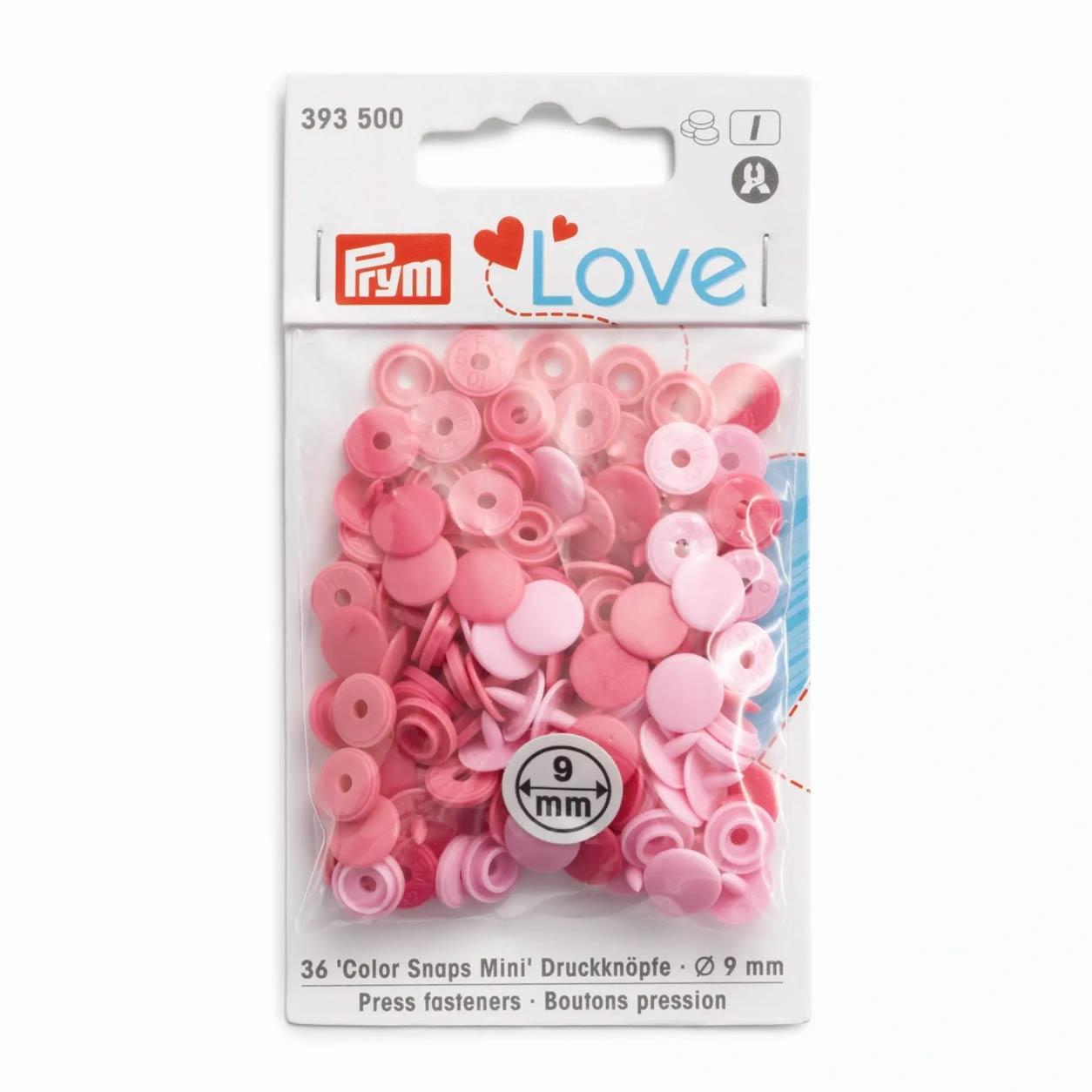 Bottoni a Pressione Color Snap Rosa Prym Love 9 mm