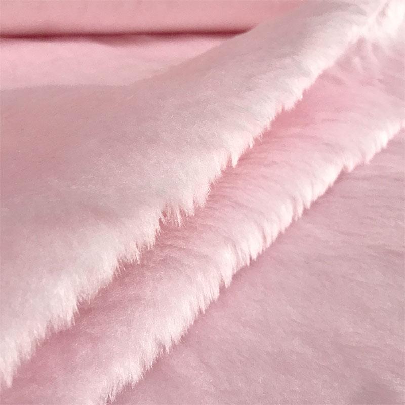 Tessuto Pelliccia Economica Pelo Corto Rosa