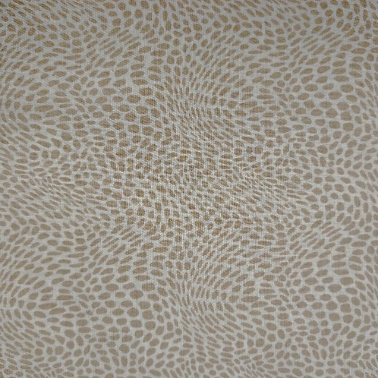 Tessuto Cotone Puntinismo Astratto