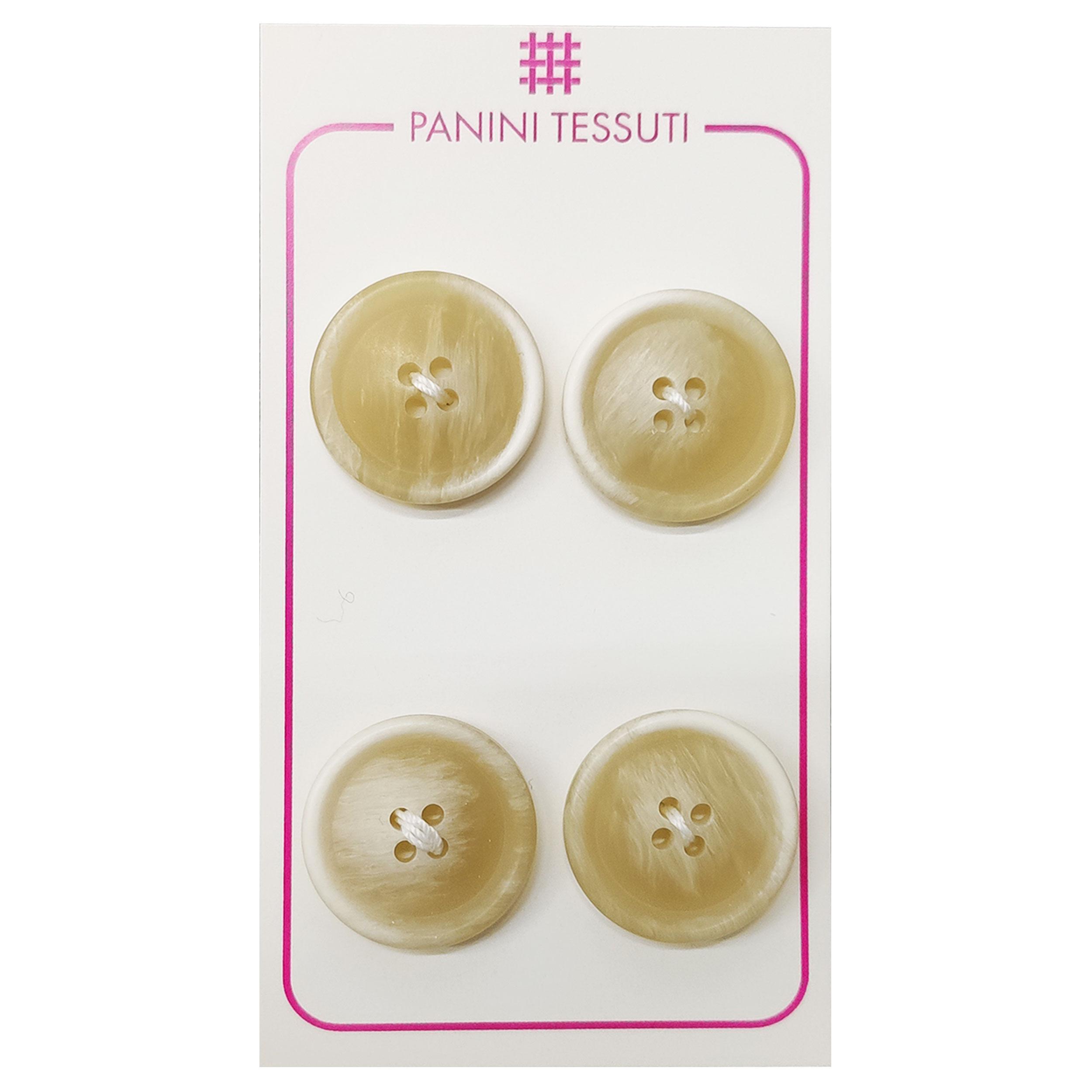 Bottoni Opachi Melange Color Panna 4 Pezzi - Lin 32
