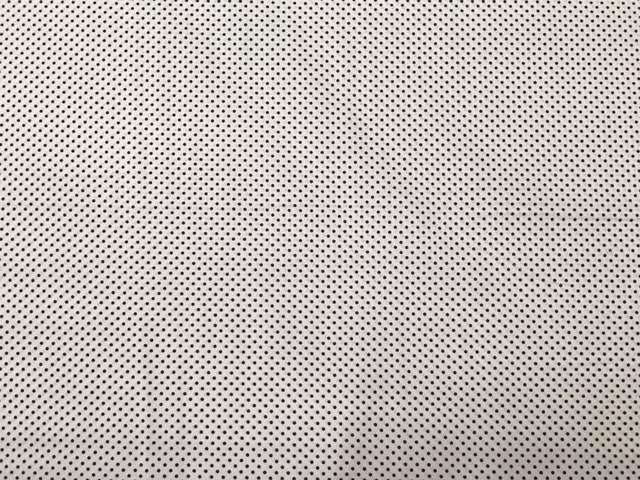 Tessuto Cotone Bianco Pois Blu