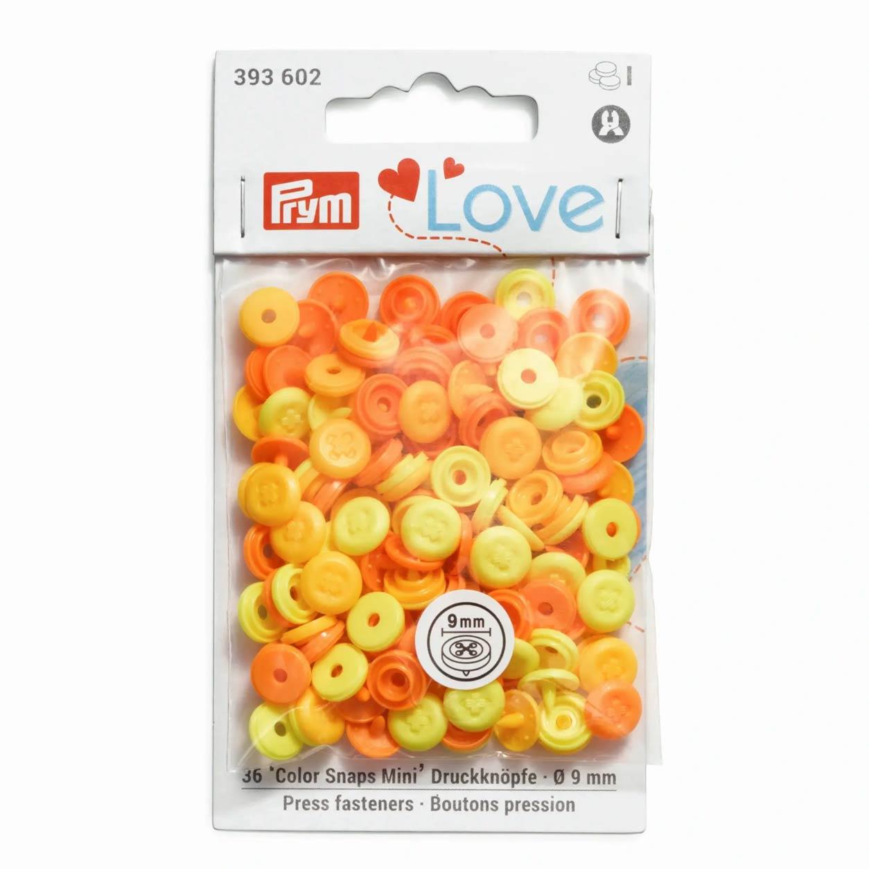 Bottoni a Pressione Color Snap Effetto Cucito Gialli Prym Love 9 mm