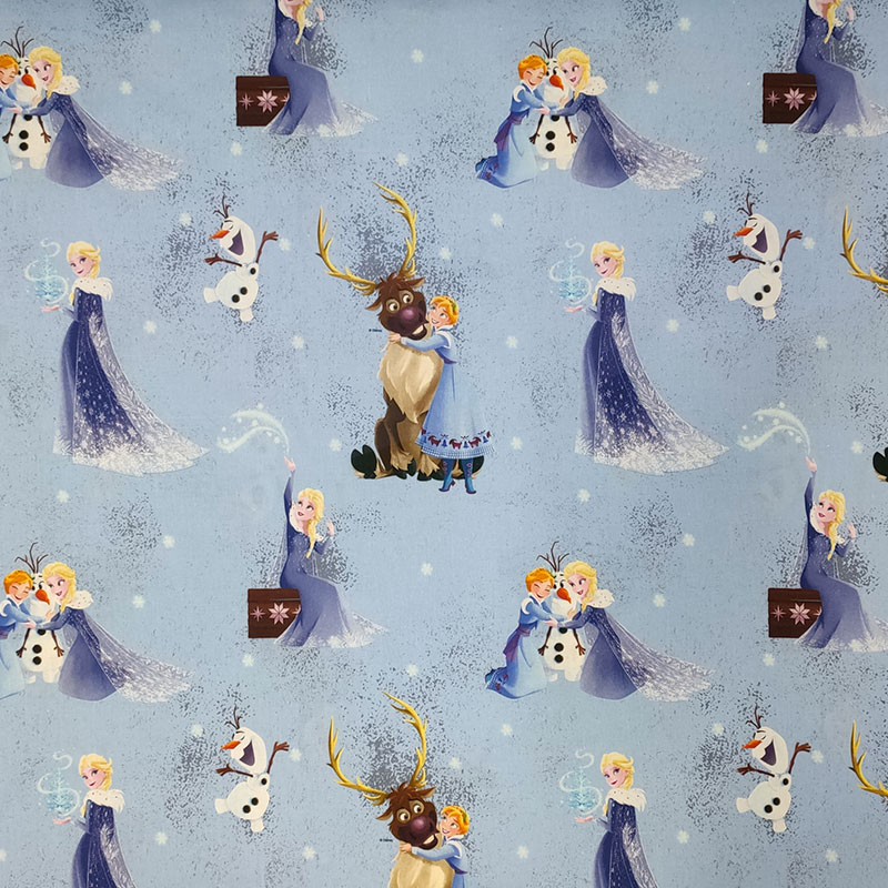 Tessuto Cotone Disney Elsa e Anna