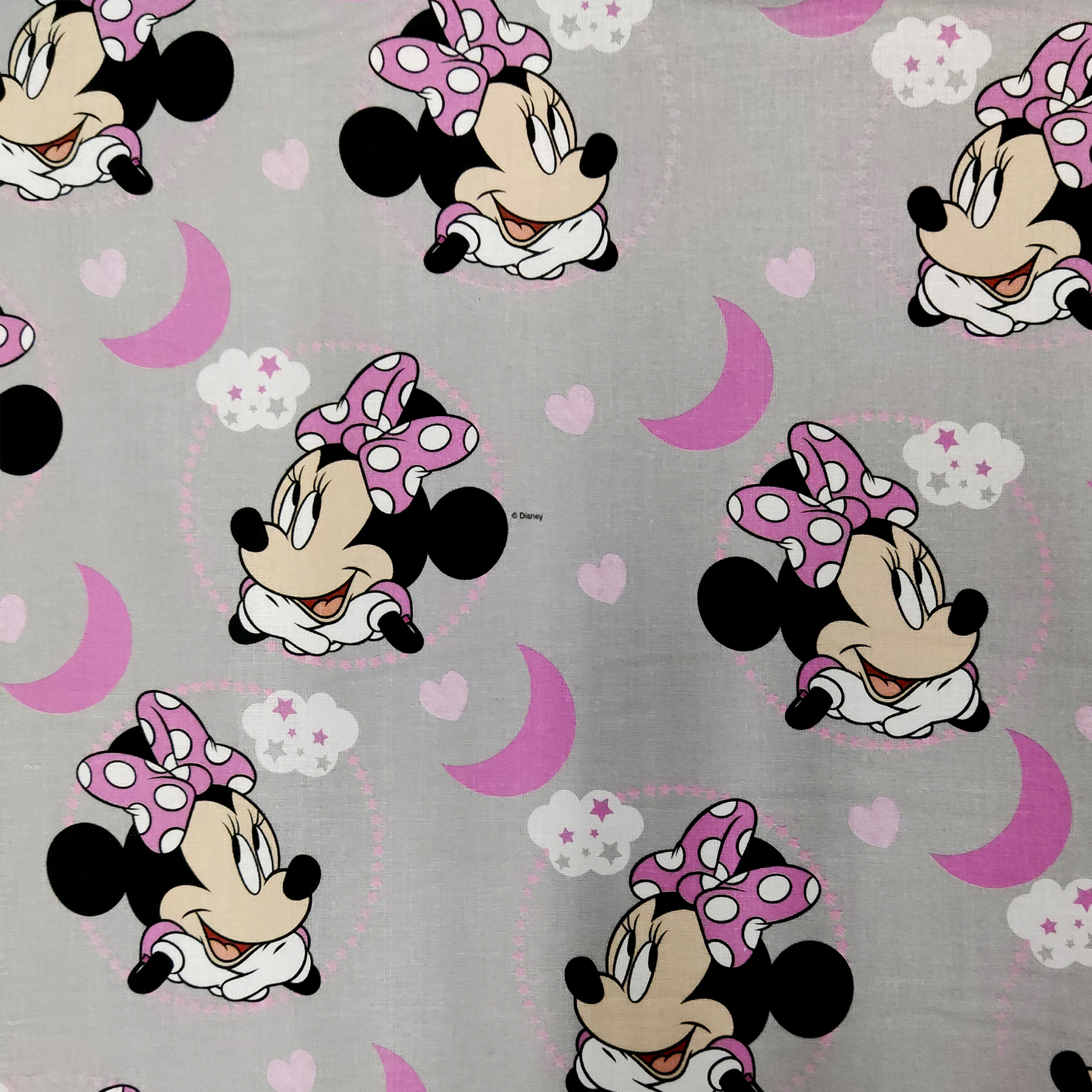 Tessuto Cotone Disney Minnie Dolci Sogni