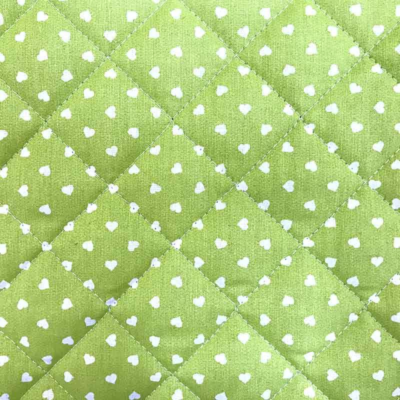 Trapunta Cuoricini Verde