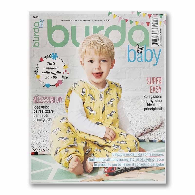 Rivista Burda Baby - Abbigliamento, Giochi e Borsa Fasciatoio nelle Taglie 56-98
