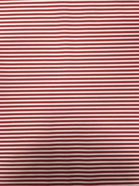 Tessuto Cotone Rigato Rosso