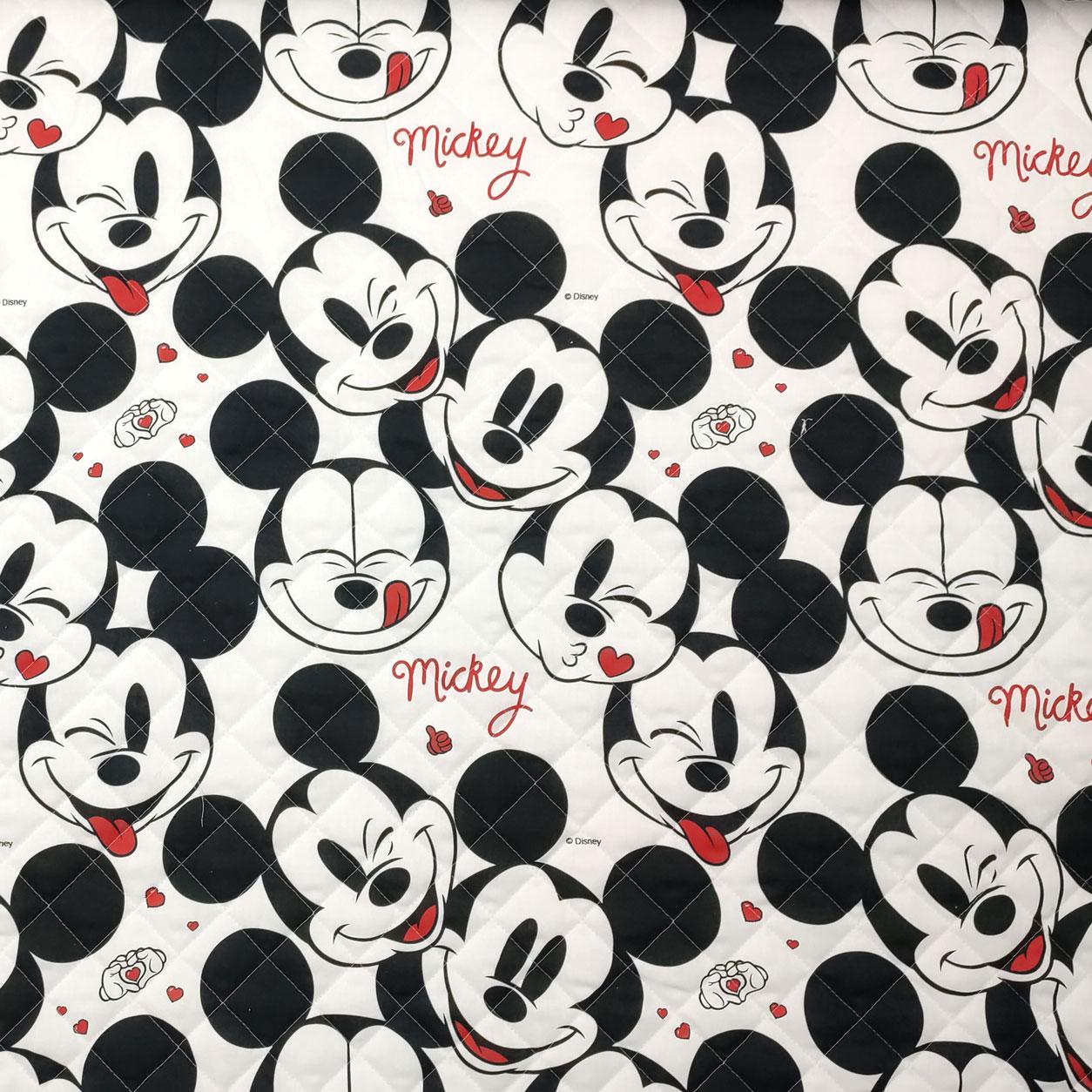 Trapunta Faccine Mickey Mouse Bianco