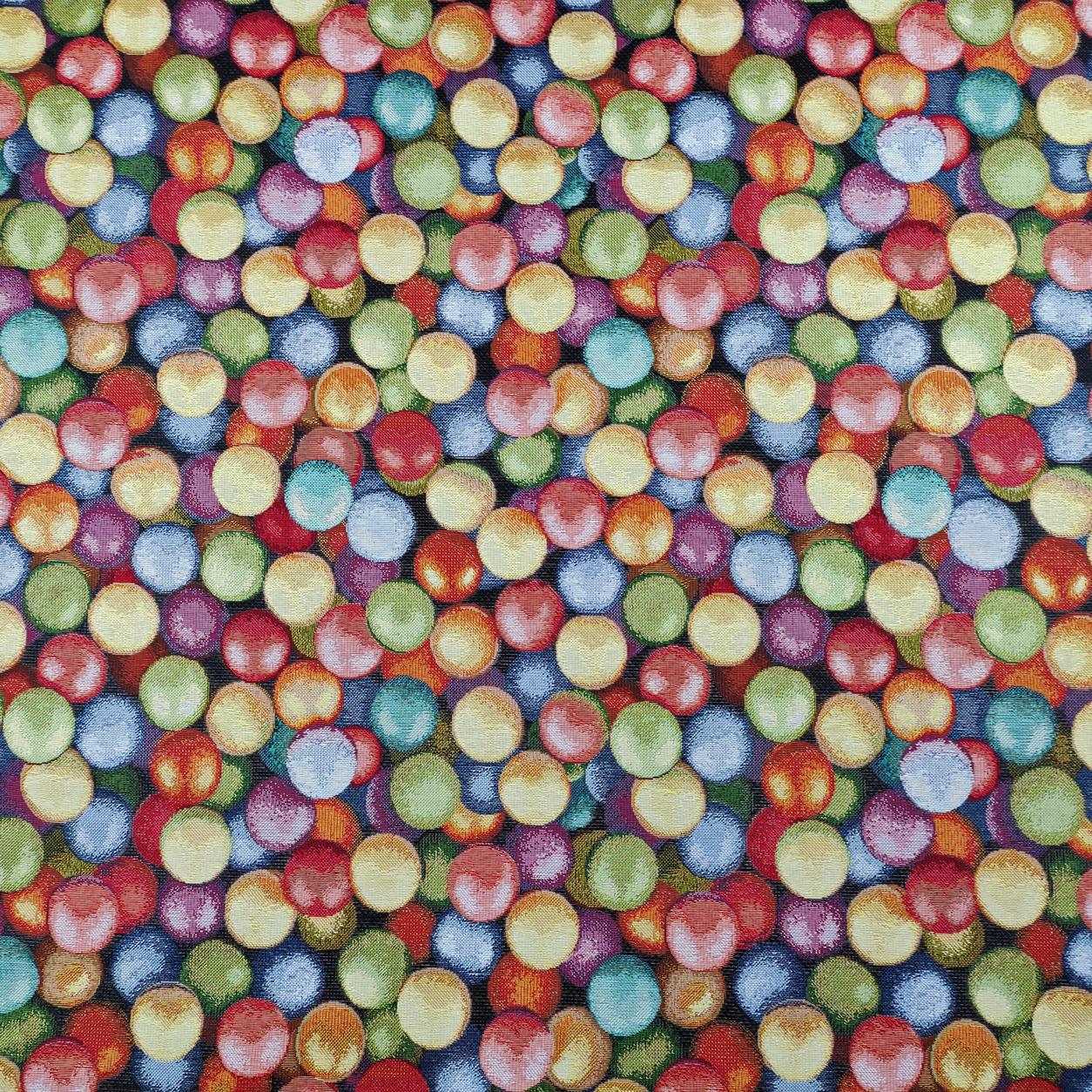 Tessuto Jacquard Fantasia Bolle Colorate