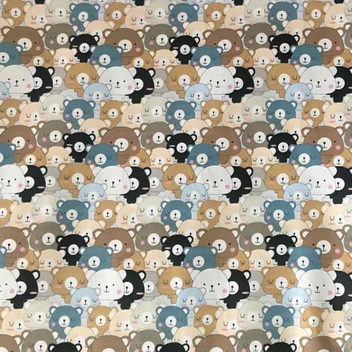 Tessuto Cotone Mille Orsetti
