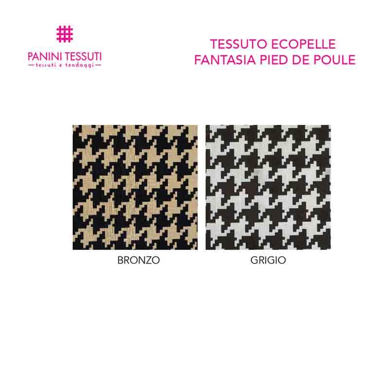 Tessuto Ecopelle Fantasia Pied De Poule