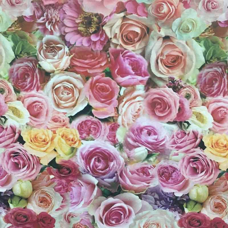 Tessuto Panama Stampa Digitale Rose