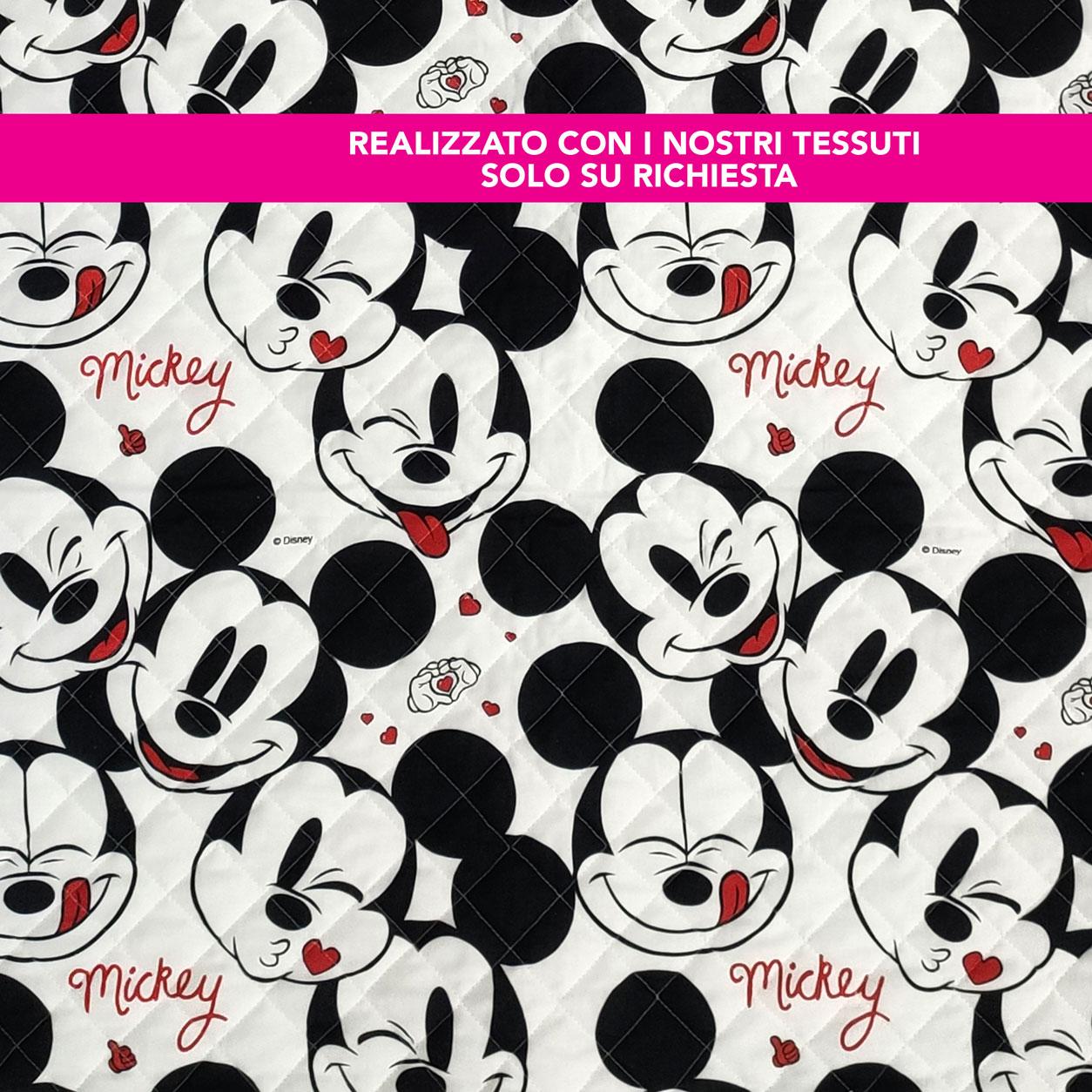 Sacco Nanna Personalizzato Faccine Mickey Mouse Bianco