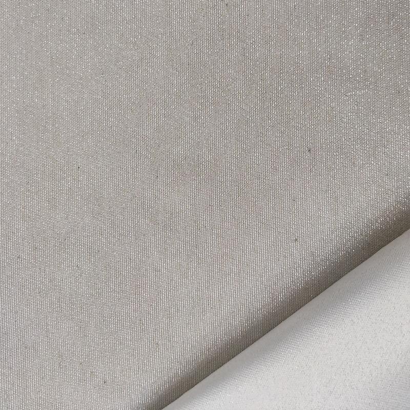 Tessuto Natalizio Tinta Unita Lurex Argento