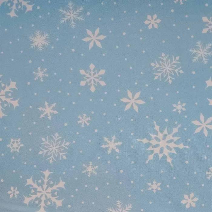 Tessuto Raso Carnevale Fiocchi di Neve