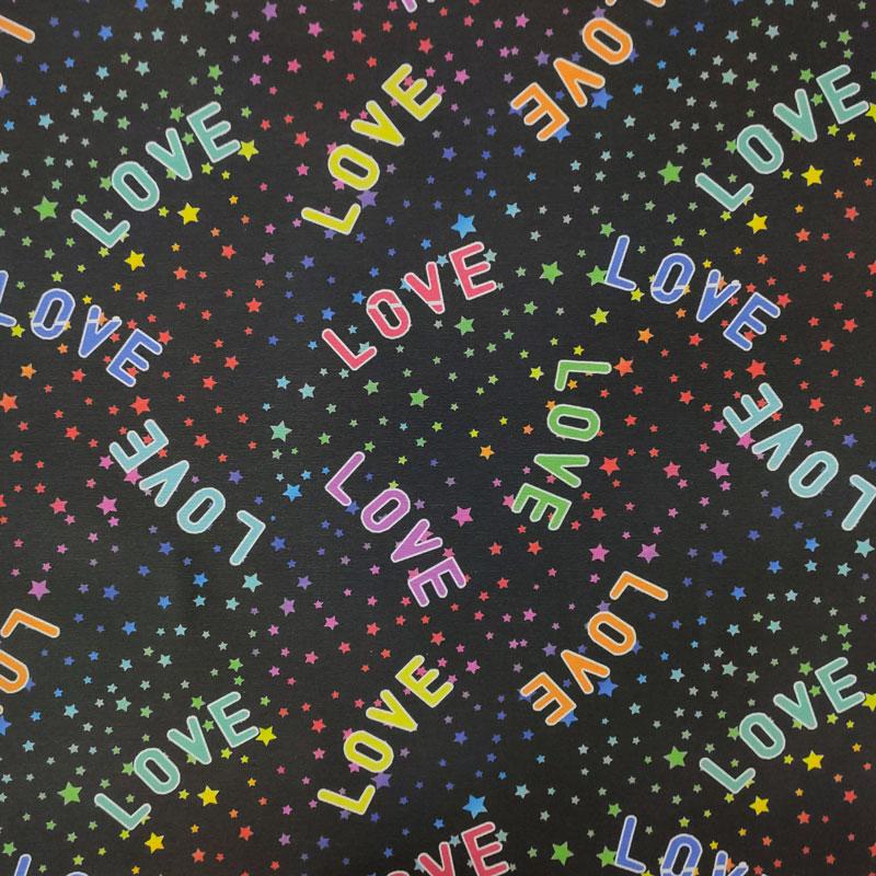 Tessuto Arredo Misto Cotone Love & Stars
