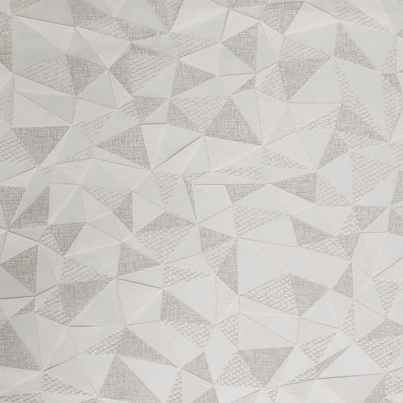 Tessuto Tendino Devorè Geometrie Grigio