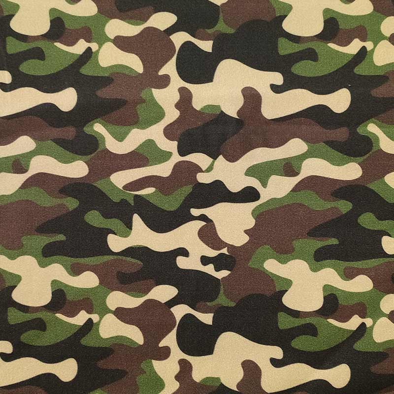 Rasatello di Cotone Leggero Fantasia Militare Classica