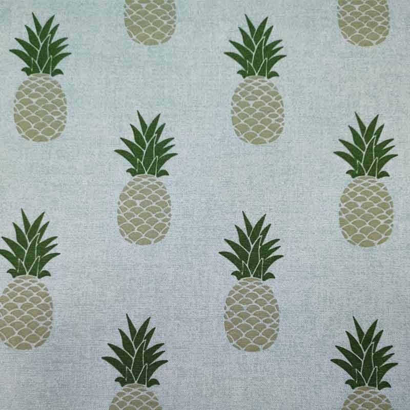 Tessuto Misto Cotone Ananas Stampa Vintage