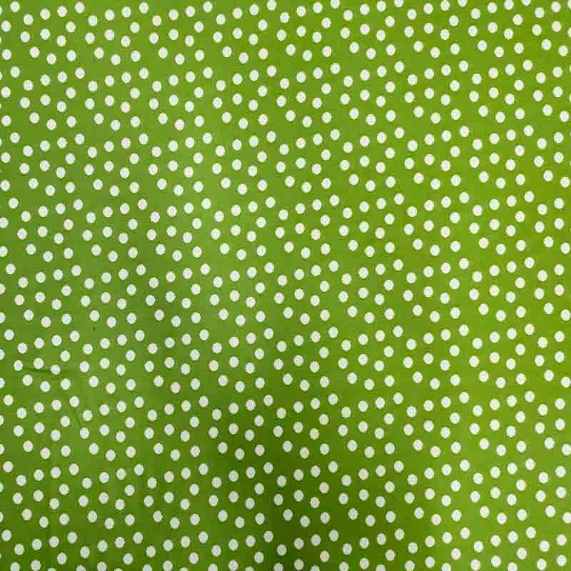 Punto Milano Pois Bianchi Sfondo Verde