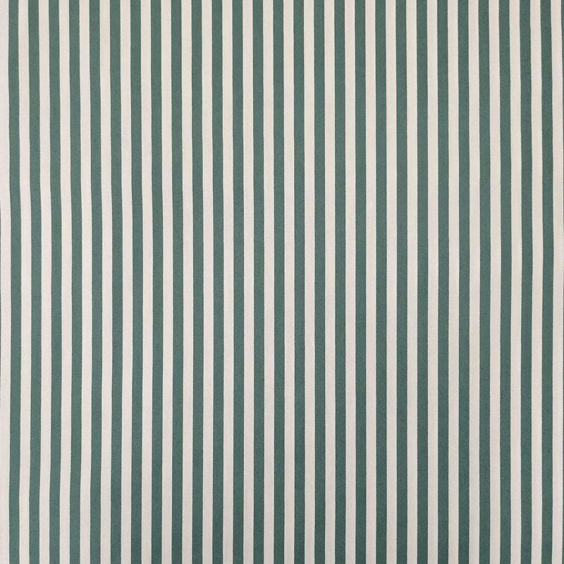 Ritaglio Tessuto Cotone Natural Righe Bianche e Verdi 50x140 cm
