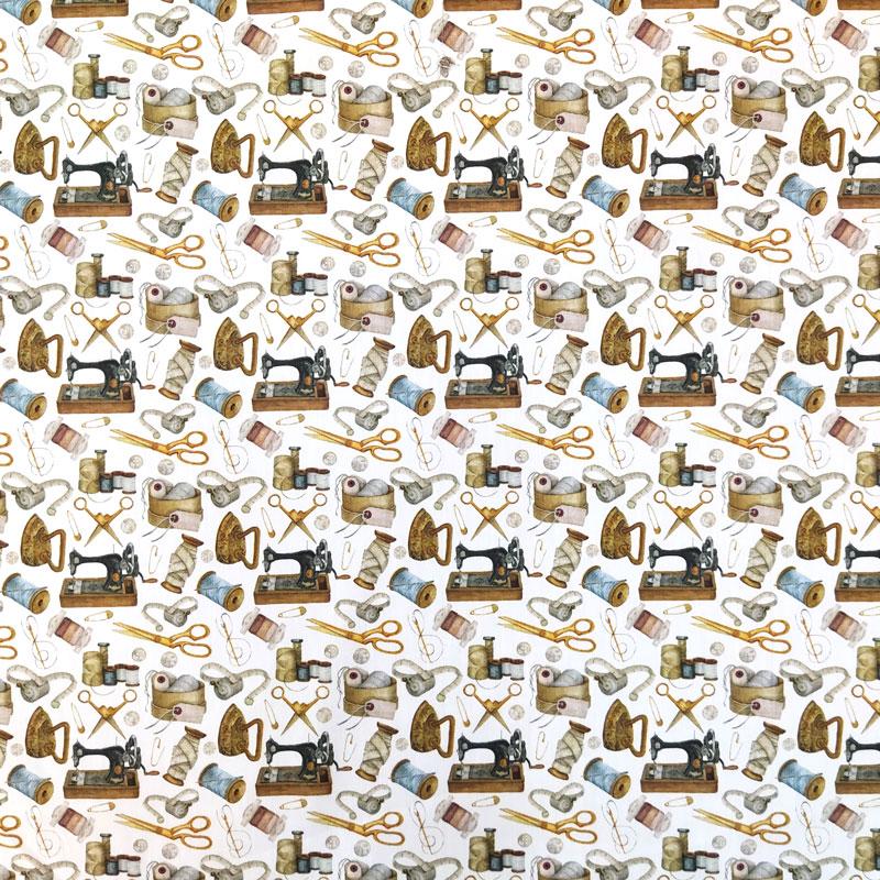 Ritaglio Rasatello di Cotone Fantasia Sartoria 50x140 cm