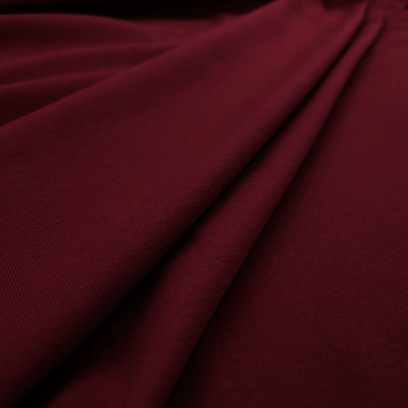 Tessuto Jersey Cotone Bielastico Bordeaux